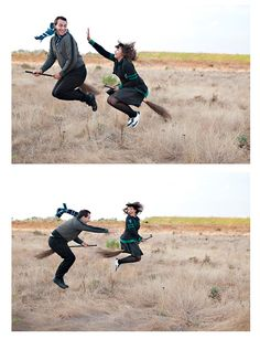 Harry Potter engagement photo shoot...so clever love this!