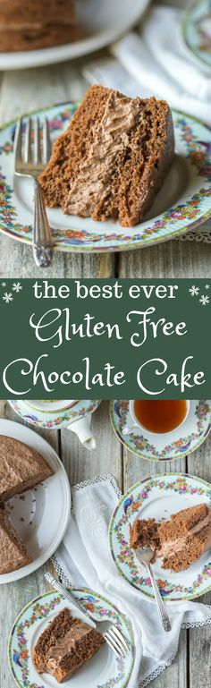 The BEST EVER Gluten Free Chocolate Cake! It's so easy to make, you'll love it!