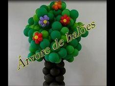 fazendo arranjo de balão para decoraçao de festa infantil muito facil (SUZY FESTA DECORAÇAO - YouTube