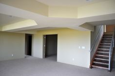 Choice Construction, Remodel, Custom Homes, Gig Harbor, Great Room, Trey Ceiling, Coffer Ceiling, Open Staircase
