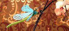 Libelle aus Karton basteln