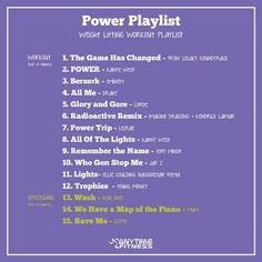 Some music ideas to help you get #motivated. #music #motivation #powerplaylist #weightlifting #workout #exercise