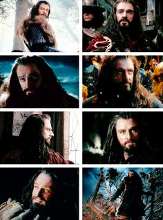 Thorin + as seen by Bilbo [ #if you think about the idea that Bilbo is the one telling the story of the Hobbit #this is how he saw Thorin #no wonder he fell in love ]