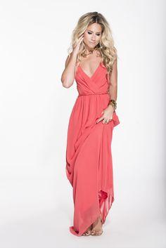 Maxi Dress Coral Nikkie love it!