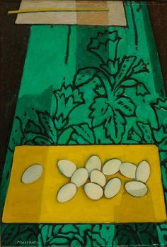 Uova su fondo verde ,1959 Felice Casorati