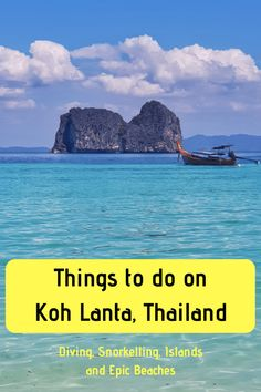 Things to do in Koh Lanta: a guide to diving, snorkelling and island hopping in Koh Lanta, plus exploring by scooter and more Koh Lanta travel tips Thailand Travel, Asia Travel, Solo Travel, Travel List, Backpacking Asia, Maui Vacation, Big Island Hawaii, Snorkelling, Places To Travel