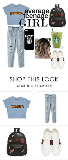 """""""average teenage GIRL"""" by jeonayla on Polyvore featuring Ollie & B, Gucci and Casetify"""