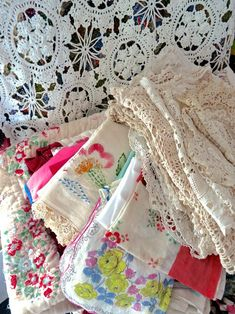 Vintage linen and lace.