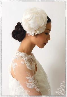 874a1fc25 【rakuten ichiba】atelier nae for Cli'O mariage feather flower x silk flower  wedding head accessory
