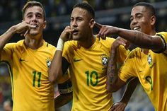Neymar scored a milestone goal as Brazil piled the pressure on Argentina in World Cup qualifying with a 3-0 win on Thursday.