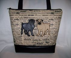 A personal favorite from my Etsy shop https://www.etsy.com/listing/507248417/double-pug-purse-in-oscars-roll-call