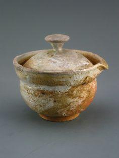 Shiboridashi Teapot woodfired sandy stoneware by GREENWOODSTUDIO, $34.00