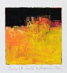 Oil on canvas  9 cm x 9 cm  © 2015 Hiroshi Matsumoto www.hiroshimatsumoto.com