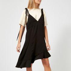 668c85b259438 KENZO Women s Soft Crepe T-Shirt Slip Dress - Black Womens Clothing - Free  UK