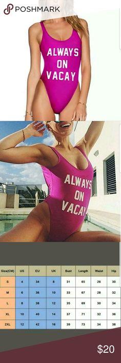 Always on Vacay Monokini Hot pink one piece monokini Swim One Pieces