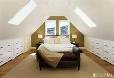 Loft Conversion - Small Attic Room Ideas -drawers in sides
