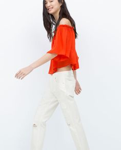 ZARA - WOMAN - OFF-THE-SHOULDER TOP