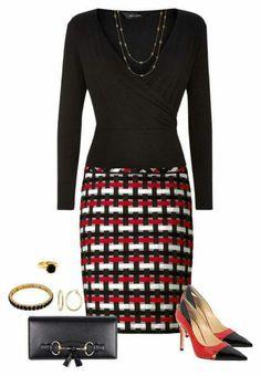 Combinação simples e linda...textura da saia fez toda diferença. .....