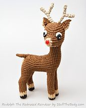 Ravelry: Rudolph The Red-Nosed Reindeer Free Amigurumi Pattern Modification pattern by StuffTheBody