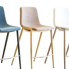 """Fletcher Kitchen Stool """"Create Your Own"""" Kitchen Stools, Bar Stools, Melbourne Apartment, Apartment Chic, Brushed Stainless Steel, Walnut Wood, Foot Rest, Steel Frame, Simple Designs"""