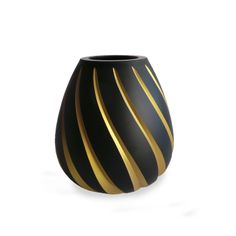 Hiref New Collection Item Abdan Glass Vase Hand Cut, Gold Painted, Black Glass www.hirefstore.com
