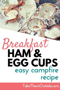 These ham and egg cups in muffin tins are an easy keto campfire breakfast food to add to your camping recipe cookbook. They're low-prep, easy clean-up, and kids love them. Add broccoli, cheese, and avocado to make them even yummier! Easy Camping Breakfast, Campfire Breakfast, Ham Breakfast, Breakfast Recipes, Easy Campfire Meals, Campfire Food, Camping Meals, Camping Cooking, Camping Recipes