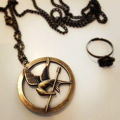 Mockingjay necklace etsy things i love 3 pinterest mockingjay pendant from mozeypictures Image collections