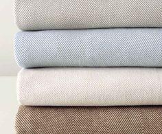 cozy | herringbone blanket