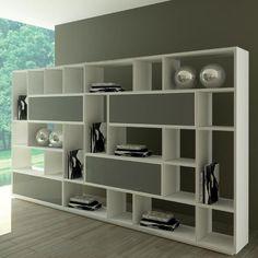 Rimadesio Opus | design modulaire boekenkast, wandmeubel, stellingkast