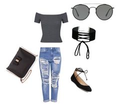 """""""Untitled #1"""" by charlisebenjamin on Polyvore featuring Miss Selfridge, Karl Lagerfeld, Ted Baker and Ray-Ban"""