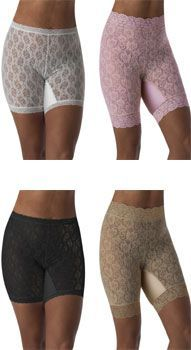 OMG - Why haven't these sold millions! Panties and thigh covers for all of us chicks with thighs that rub when we wear dresses!! I don't want a pair of hot nylons in the summer, but can't take the rash I get from going bare-legged! Spanx are too tight and make you sweat! These are AWESOME and the company is just fantastic! Have 3 pairs coming in for my summer dresses & skirts! SUCH a great idea for any gal that has some thigh action happening! XOXO