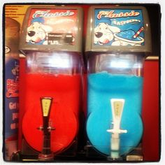 Slush puppies. Most awesome treat from the convenience store ever, in Coke flavor of course!