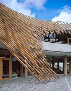 Römerbad Spa Baths by Behnisch Architekten Pavilion Architecture, Amazing Architecture, Architecture Details, Interior Architecture, Roof Design, Facade Design, Exterior Design, Modern Buildings, Beautiful Buildings