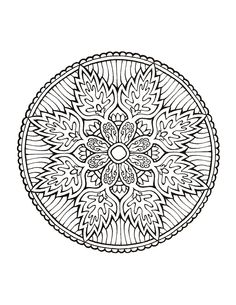Dover Coloring Book - Mystical Mandala Coloring Book by Viktor Pavliska Mandala Coloring Pages, Colouring Pages, Adult Coloring Pages, Coloring Books, Doodle Pages, Zentangle Patterns, Zentangles, Free Printable Coloring Pages, Mandala Design