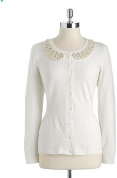 Embellished Cardigans for Women | DKNY Three Quarter Sleeve ...