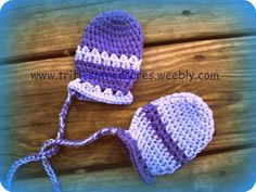 Free Crocheting Pattern: Stripes Thumbless Baby Mittens