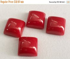 51% ON SALE 4 Pcs Compressed Coral Square Plain by gemsforjewels