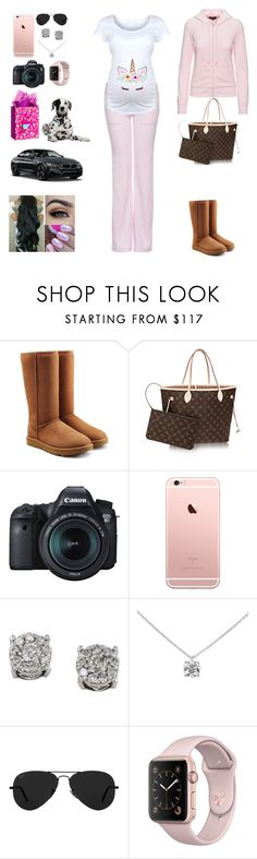 """""""Best."""" by mommywolf ❤ liked on Polyvore featuring UGG, Louis Vuitton, BMW, Eos, Effy Jewelry, Tiffany & Co. and Ray-Ban"""