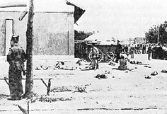 Jewish victims of the pogrom at Jassy (Moldavia) perpetrated by Romanian and German soldiers in June 1941. The fascist Romanian regime followed policies similar to its allies: to kill or assist German units in killing Jews and Gypsies in the territories of Bessarabia, Northern Bukovina and Transnistria, occupied jointly by Romanian and German armies. In Romania itself, the regime resisted German pressures to deport Jews.