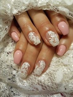 Lace inspired nails