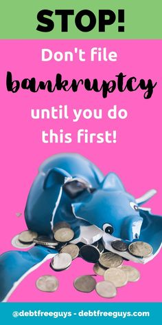 In desperate times, people turn to bankruptcy. But bankruptcy should be a last resort. Here's everything you should know before filing bankruptcy. #Bankruptcy #filingbankruptcy #debt #moneytips #debtconsolidation #debtfree #moneypodcast via @debtfreeg