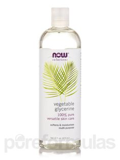Solution: Pure Vegetable Glycerine is an outstanding moisturizer and skin cleanser that also provides softening and lubricating benefit - See more at: https://www.pureformulas.com/vegetable-glycerine-16-oz-by-now.html#sthash.hqL2KQiN.dpuf
