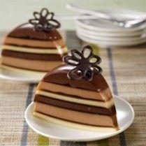 Resep Puding Coklat Tiga Rasa