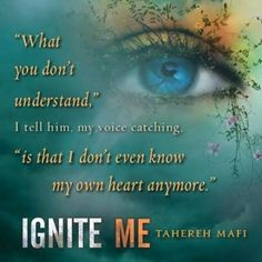 Ignite Me- I felt my heart break for Juliette and Aaron. Also Juliette and Adam. Just for Juliette and everyone with her in general. Shatter Me Quotes, Shatter Me Series, Great Books To Read, Good Books, Daughter Of Smoke And Bone, Favorite Book Quotes, Young Adult Fiction, Ya Books, Reading Books