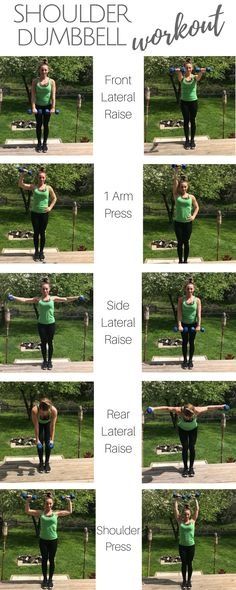Killer Shoulder Dumbbell Workout! Hitting each shoulder head makes this the perfect shoulder dumbbell workout that can be done at the gym or at home!