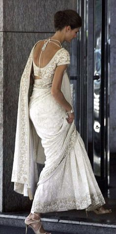 white saree...tremendous