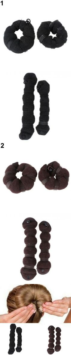 2016 Top Quality Unique Design 2pcs/set Elegant  Hair Styling Magic Style Bun Maker Hairstyle Updo DIY  Tool 5BSE 7GY1 8BEV