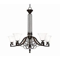 2nd Ave Design Suri 5 Light Shaded Chandelier Finish: Golden Verde Premium