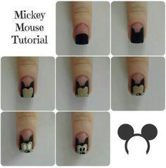 Mickey Mouse nail art tutorial