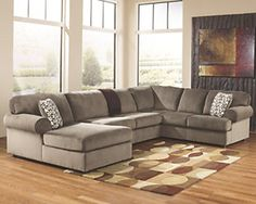 Shop Ashley Furniture Jessa Place Dune Left Side Chaise Sectional with great price, The Classy Home Furniture has the best selection of Sectionals to choose from Sectional Furniture, Sofa Couch, Living Room Sectional, Sofa Set, Living Room Furniture, Sectional Sofas, Furniture Decor, Furniture Stores, Hickory Furniture